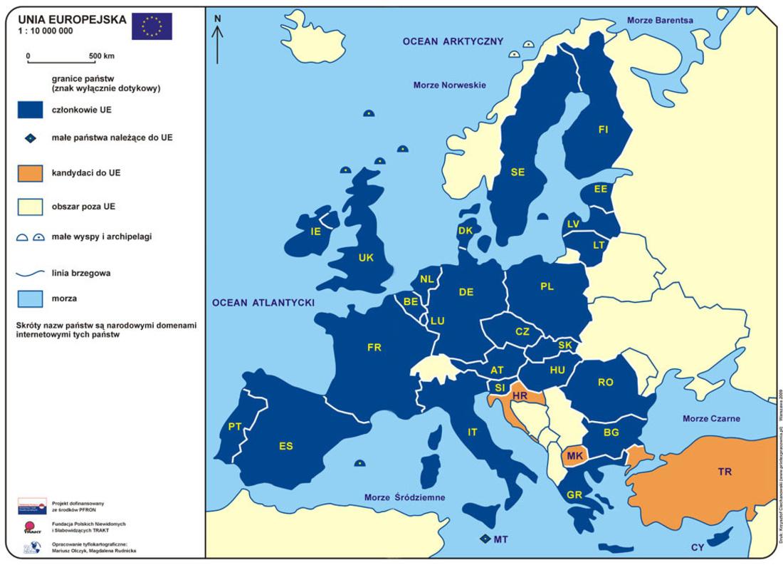 Unia Europejska Mapa Polityczna